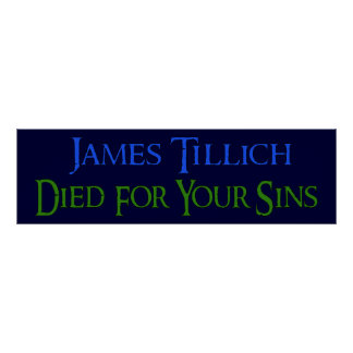 James Tillich murió por sus pecados Poster