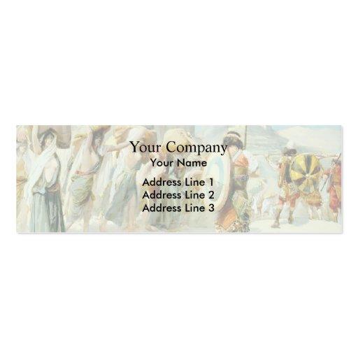 James Tissot: Las mujeres de Midian llevaron al ca Tarjetas De Negocios
