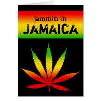 Jammin en tarjeta de felicitación de Rasta del