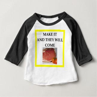 jamón camiseta de bebé