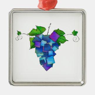 Jamurissa - uvas cuadradas adorno de cerámica