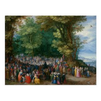 Jan Brueghel la anciano - el sermón de la montaña Postal