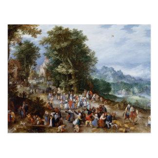 Jan Brueghel la anciano - feria flamenca Postal
