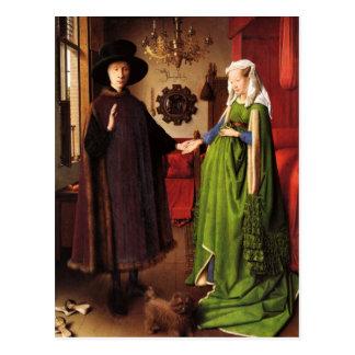 Jan van Eyck: Postal del retrato de boda de Arnolf