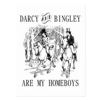 Jane Austen Darcy y postales de los Homeboys de