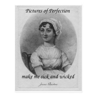 Jane Austen es enfermo y travieso Tarjeta Postal