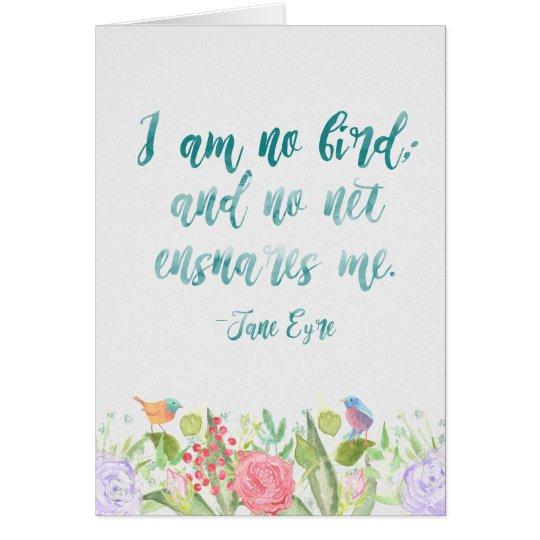 Jane Eyre - no soy ningún pájaro - tarjeta