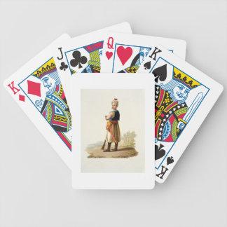 """Janissary, de los """"trajes de las diversas naciones barajas de cartas"""