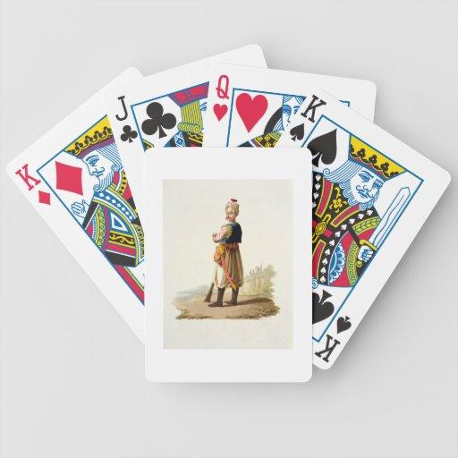 """Janissary, de los """"trajes de las diversas naciones baraja cartas de poker"""