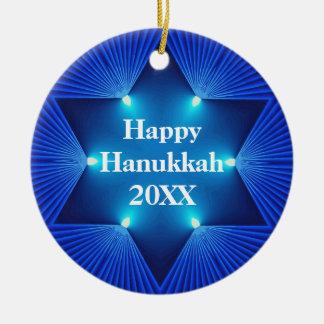 Jánuca feliz cualquier ornamento del año y del nom ornamento de navidad