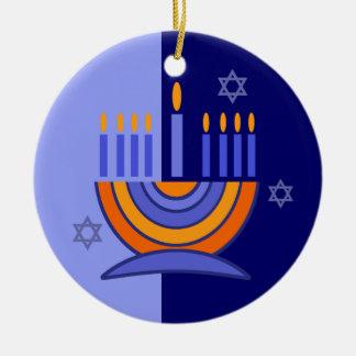 ¡Jánuca feliz! Menorah y diseño de Dreidels Ornamento Para Reyes Magos