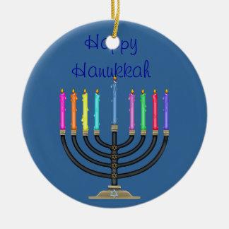 JÁNUCA FELIZ Ornament STAR de DAVID Ornamento Para Arbol De Navidad