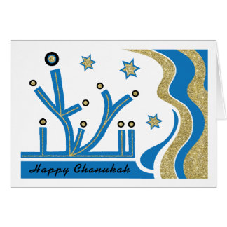 Jánuca/tarjeta de felicitación de Chanukah con el