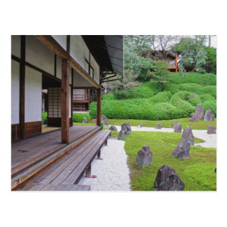 Japón, Kyoto. Jardín de piedra en silencio Postal
