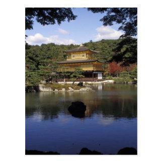 Japón, Kyoto, pabellón de oro, templo del zen Postal