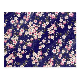 Japón, Sakura, kimono, Origami, Chiyogami, flor, Postal