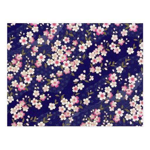 Japón, Sakura, kimono, Origami, Chiyogami, flor, Postales