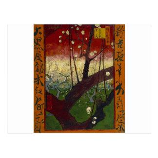 Japonaiserie de Van Gogh después de Hiroshige Postal
