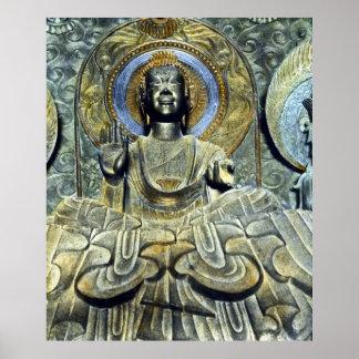 Japonés Daibutsu Buda del vintage Poster