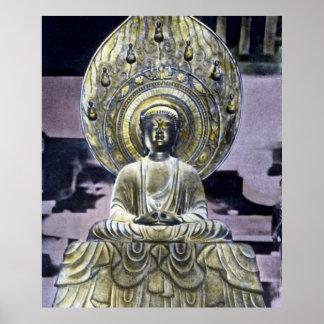 Japonés Daibutsu Buda del vintage Póster