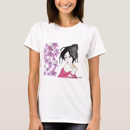 japones geisha animación dibujo camiseta regalo