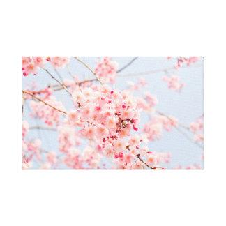 Japonés Sakura. Flores de cerezo. Primavera Lienzo