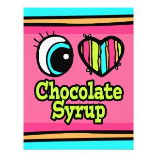 Jarabe de chocolate brillante del amor del corazón tarjetas publicitarias