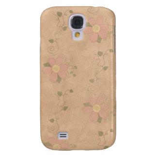 Jardín 3G/3GS floral del vintage Carcasa Para Galaxy S4