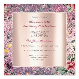 Jardín Amethyst del Chinoiserie de la mariposa Invitación 13,3 Cm X 13,3cm