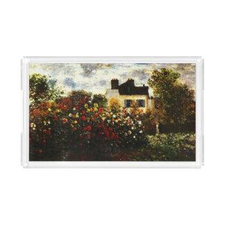 Jardín de Claude Monet-Monet en Argenteuil Bandeja Acrílica