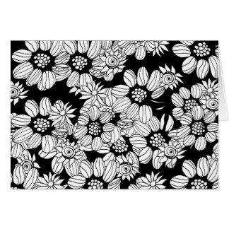 Jardín de flores adulto del colorante de DIY Tarjeta De Felicitación