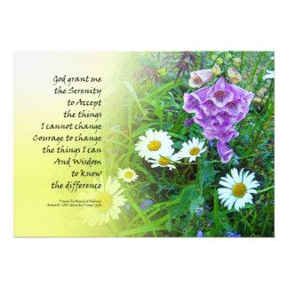 Jardín de flores del rezo de la serenidad