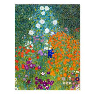 Jardín de flores, Gustavo Klimt Tarjetas Postales