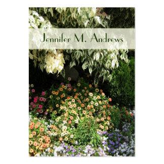 jardín de flores tarjetas de visita grandes