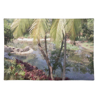 Jardín de Goa la India Salvamanteles