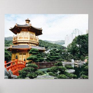 Jardín de Hong Kong NaN Lian Póster