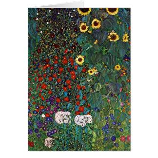 Jardín de la granja de Gustavo Klimt con los Tarjeta