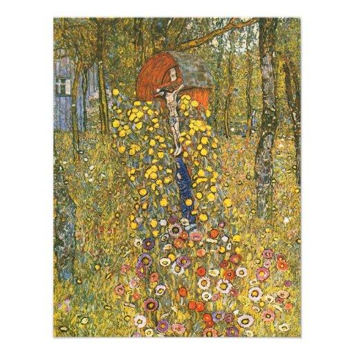 Jardín de la granja de Klimt con las invitaciones  Anuncios