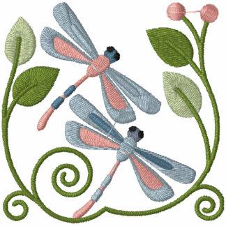 Jardín de la libélula sudadera con serigrafia