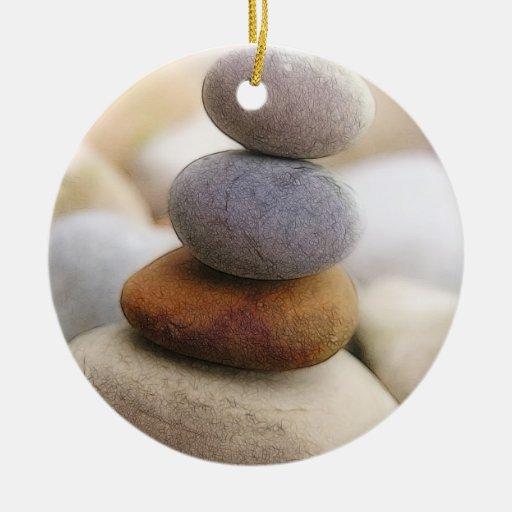 Jard n de piedras del zen ornamento para arbol de navidad for Piedras para jardin zen