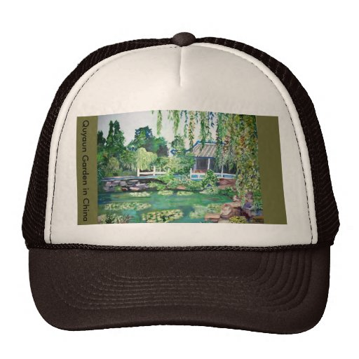 Jardín de Quyaun en China - gorra