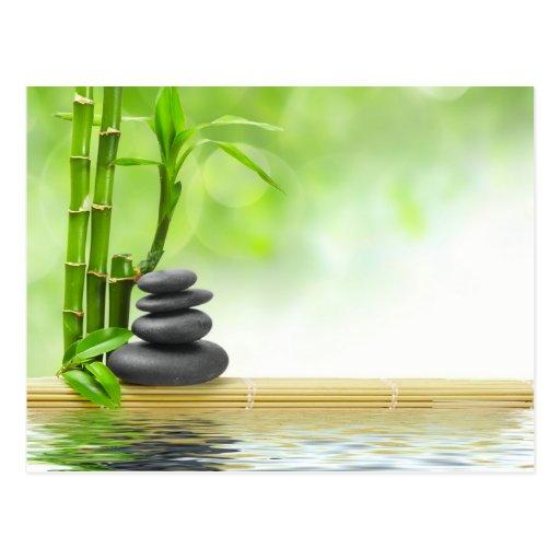 Jardín del agua de la tranquilidad del zen por amo postal