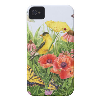 Jardín del Goldfinch Carcasa Para iPhone 4 De Case-Mate