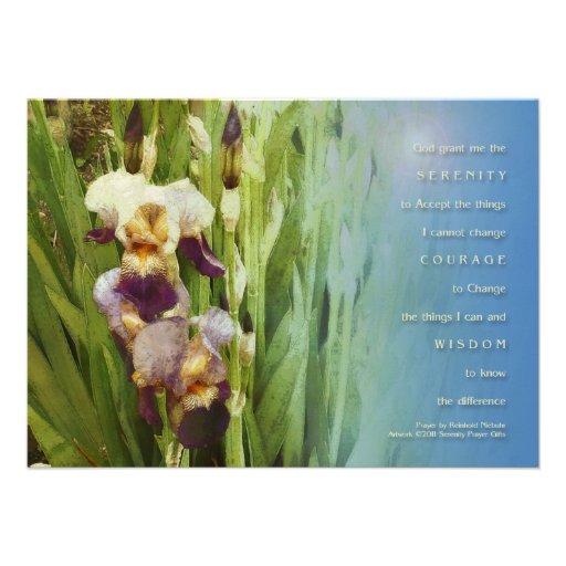 Jardín del iris del rezo de la serenidad comunicados