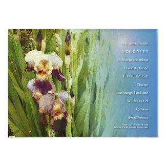 Jardín del iris del rezo de la serenidad invitación 11,4 x 15,8 cm