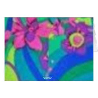 Jardín del paraíso (impresión de la hawaiana del v tarjeta de felicitación