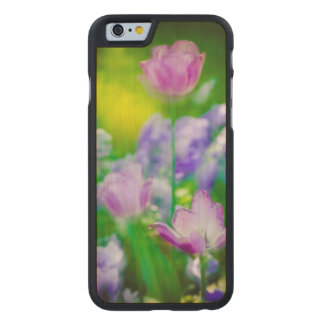 Jardín del tulipán, Giverny, Francia Funda De iPhone 6 Carved® Slim De Arce