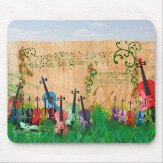 Jardín del violín alfombrilla de ratón
