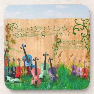 Jardín del violín posavasos