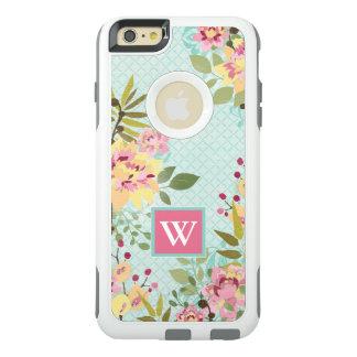 Jardín floral, fondo azul funda otterbox para iPhone 6/6s plus